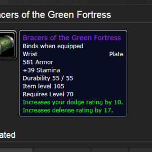Bracers Of The Green Fortress